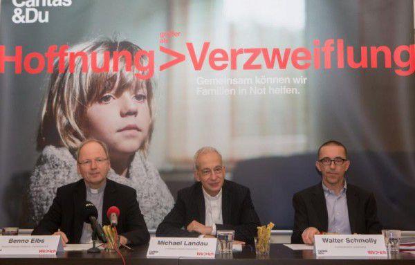 Bischof Benno Elbs, Caritas-Präsident Michael Landau und Caritas-Direktor Walter Schmolly (v.l.).klaus hartinger
