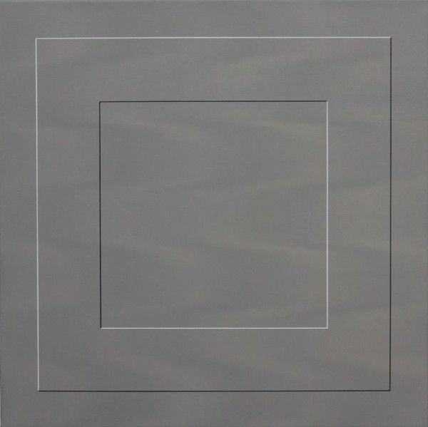 Otto Reitsperger: trompe-l'œil (oben) und Faltobjekt von Helmut Dirnaichner (großes Bild).