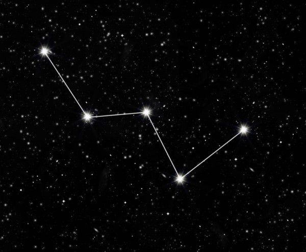 Das Sternbild Kassiopeia kann leicht übersehen werden.Shutterstock