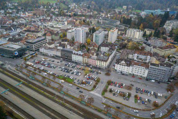 Noch ist unklar, wie es mit dem Bregenzer Seestadtareal weitergeht.Drohnenfoto/hartinger
