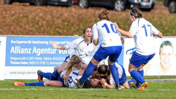 Die Damen des FFC Vorderland haben in der laufenden Saison in zehn Spielen bereits 56 Tore bejubelt.Lerch (2)