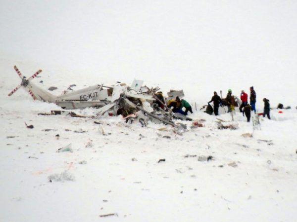 Beim Absturz des Rettungshubschraubers kamen alle sechs Insassen ums Leben. AP/ Lattanzio