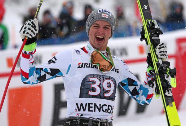 Berthold freut sich über den ersten Podestplatz seiner Weltcup-Karriere. GEPA