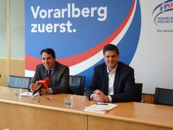 FPÖ-Landesparteiobmann Reinhard Bösch und Klubobmann Daniel Allgäuer präsentierten einen Ausblick auf das Jahr 2017. FPÖ Vorarlberg