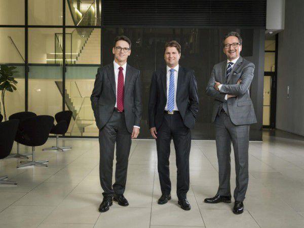 Neuer Hypo-Vorstand: Wilfried Amann, Michel Haller und Johannes Hefel (v.l.). hypo/Fasching