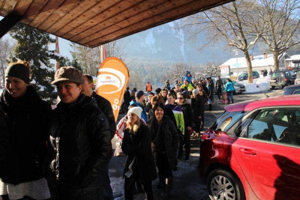 Zahlreiche Menschen ließen sich in St. Anton im Montafon typisieren. Geben für Leben