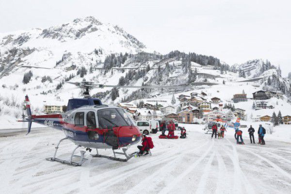 Zirka 40 Höhenmeter oberhalb der Skigruppe löste sich ein Schneebrett. Dietmar Mathis
