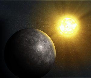 Merkur sichtbar in der Abenddämmerung