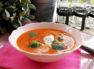 Rote-Linsen-Suppe mit Paprika