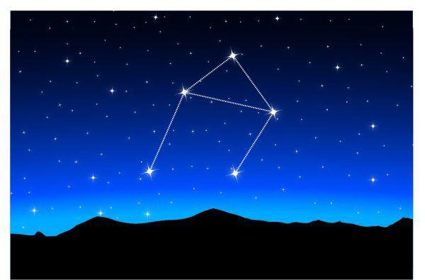 Das Sternbild Waage ist nicht so auffallend, aber dennoch gut erkennbar. Shutterstock