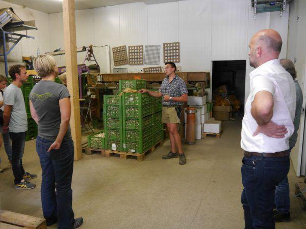 Auch ein Gemüseanbaubetrieb wurde besichtigt. Schlingensiepen