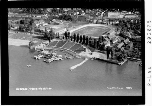 Blick auf das Bregenzer Festspielgelände im Jahr 1952.sammlung risch-lau vorarlberger landesbibliothek