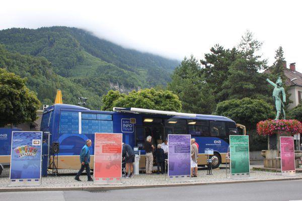Der Euro-Bus machte diese Woche an vier Standorten im Ländle Halt.OENB (2)