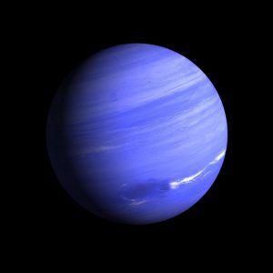 Planet Neptun steht der Sonne gegenüber