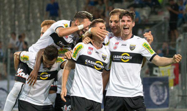 Die Altacher jubelten in Innsbruck über den Sieg gegen Gent und wollen nun in der Liga auch beim WAC als Sieger vom Platz gehen.APA