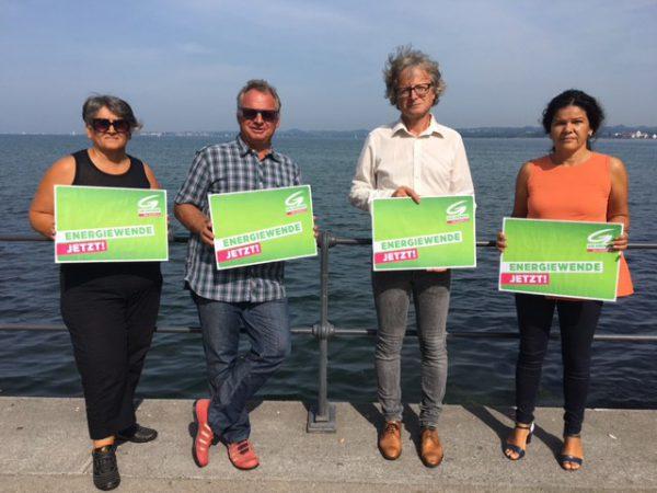 Die Grünen präsentierten ihre Forderungen am Bregenzer Hafen.Grüne