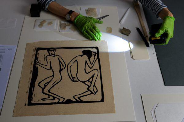 Die Restaurierung der Kunstwerke.APA/AFP/FABRICE COFFRINI