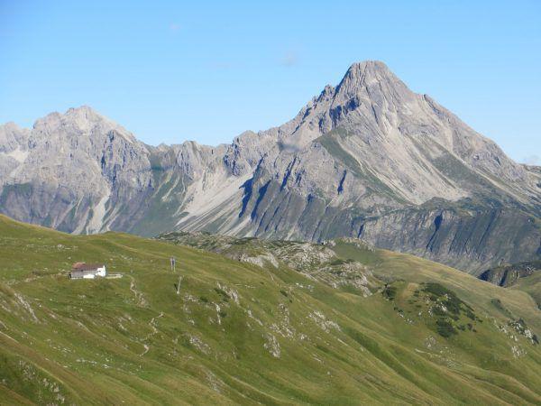 Die Widdersteinhütte in der Gemeinde Warth. Vlk
