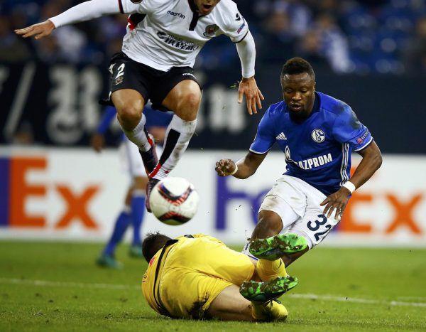 Für Schalkes Kampfmannschaft machte Tekpetey drei Spiele.REUTERS