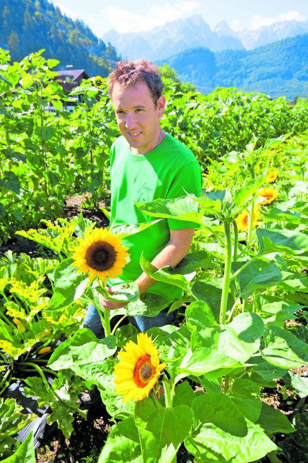 Insgesamt vier Hektar bewirtschaftet Paul Metzler im Walgau.