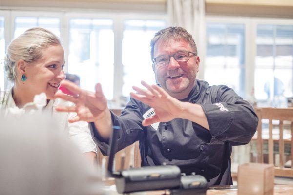 Klaus Winter und Jasmin Schwabe zaubern auch hervorragende Barbecue-Buffets. Frederick Sams (3)
