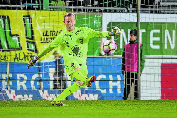 Nicolas Mohr bleibt im Tor bei der Austria. GEPA/ Lerch