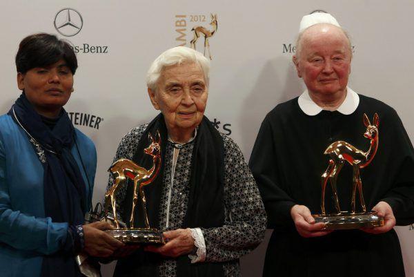 Ruth Pfau bei der Bambi-Verleihung im Jahr 2012. Reuters