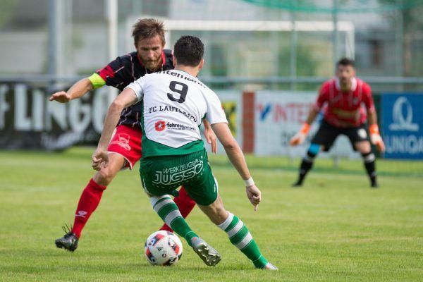 Schwarzach, im Bild Kapitän Hämmerle, vermochte die Lauteracher am zweiten Spieltag nicht aufzuhalten.Stiplovsek