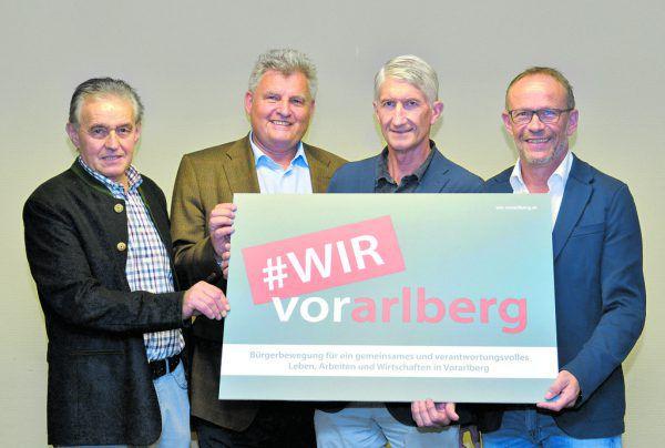 Wilfried Madlener, Hans Metzler, Wolfgang Simma und Franz Kopf (v. l.) fordern mehr Sachlichkeit und Verständnis für heimische Unternehmer. Alexandra Serra (2)