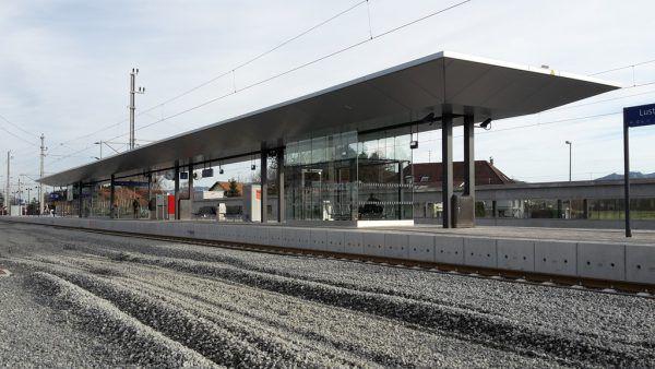 Weit fortgeschritten sind die Arbeiten am Bahnhof in Lustenau. Archivbild/Marktgemeinde Lustenau