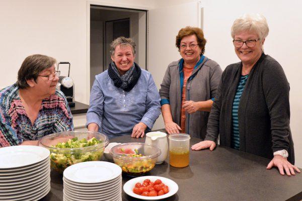 Damenrunde im Gasser-Park: Heidi, Regina, Christine und Helene. Stadt Dornbirn