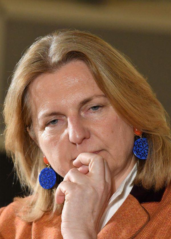 Integrationsministerin Kneissl. APA/AFP