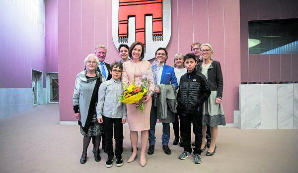Martina Rüscher wurde zur Landtagsvizepräsidentin gewählt. Familie und Freunde hatten sich zur Angelobung eingefunden. steurer