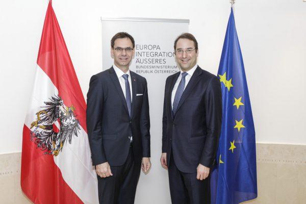 Wallner traf in Brüssel Österreichs Botschafter Marschik.VLK/Elio Germani