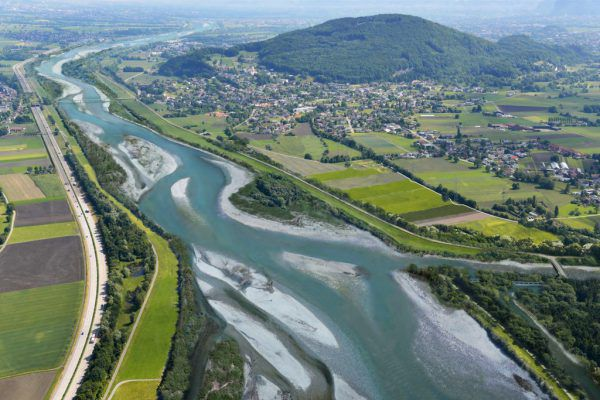 Das Projekt Rhesi soll den kanalisierten Rhein wieder in einen Fluss verwandeln und für Hochwassersicherheit sorgen.IRR