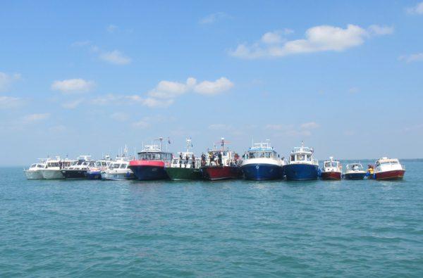 22 Boote waren beteiligt.Polizei