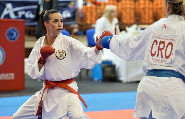 Bettina Plank steht im Finale der Europameisterschaft.Martin Kremser/Karate Austria
