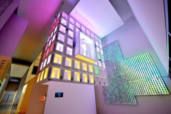 Blick ins Zumtobel-Lichtforum in Dornbirn.Zumtobel group