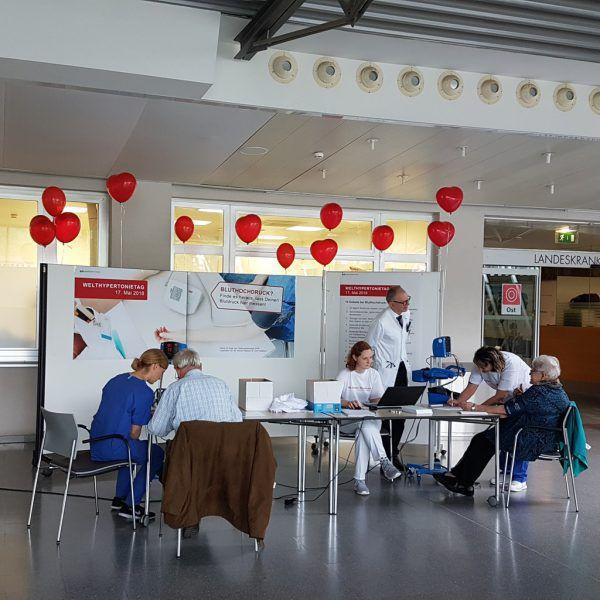 Blutdruckmessaktion zum Welthypertonietag am 17.Mai.KHBG