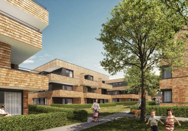 Das Wohnquartier wird 64 Wohnungen umfassen. Prisma