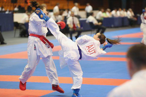 Die Vorarlbergerin Bettina Plank erkämpfte sich in Novi Sad ihre fünfte EM-Medaille.Ewald Roth/Karate Austria