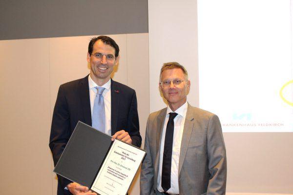 Emanuel Zitt (l.) und Ärztekammer-Präsident Michael Jonas.Ärztekammer