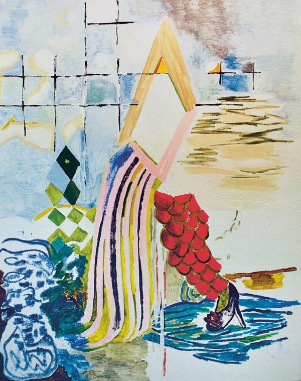 """Escape 1"" (l.) und ""Heel/Pond"".Alejandra Seeber/Häusler Contemporary"