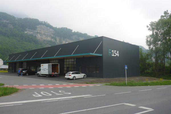 """Im Gewerbe-Neubau """"R154"""" ist der Standort angesiedelt. Gübi"""