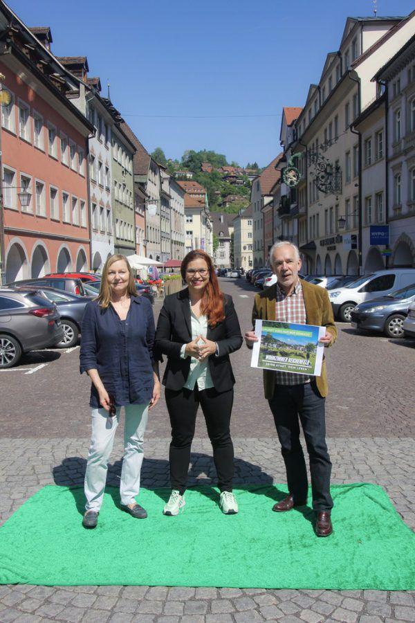 Die Grünen setzten sich sehr für die Fußgängerzonen ein. DIE GRÜNEN