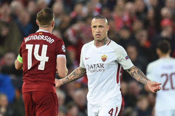 Radja Nainggolan (r.) gegen Liverpool-Kapitän Jordan Henderson (l.) – es wird heute auch um den größeren Willen gehen.Apa