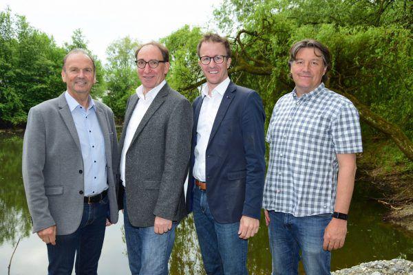 Reinhold Eberle, Johannes Rauch, Christian Gantner, Walter Niederer (v.l.).