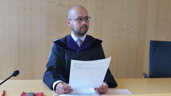 Richter Michael Fruhmann verurteilte den Vorbestraften.Dünser