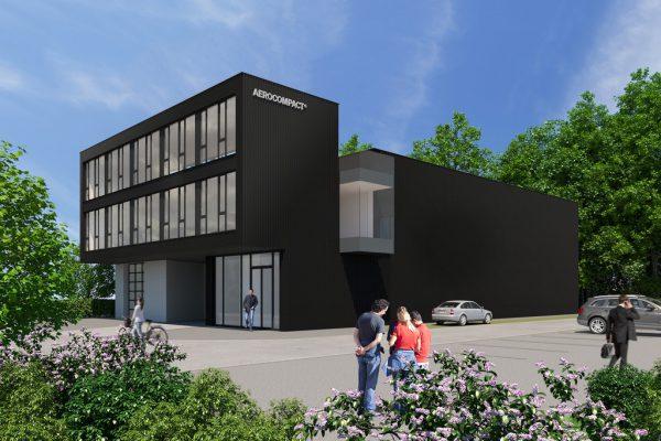 So soll der neue Firmensitz später aussehen.Aerocompact