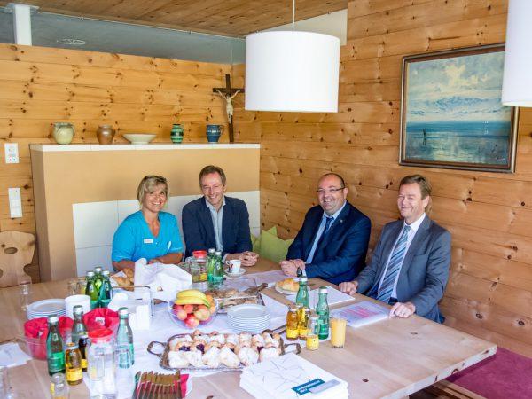 Gabriele Fellner, Clemens Schmölz, Thomas Vranjes und Harald Maikisch (v.l.n.r.).